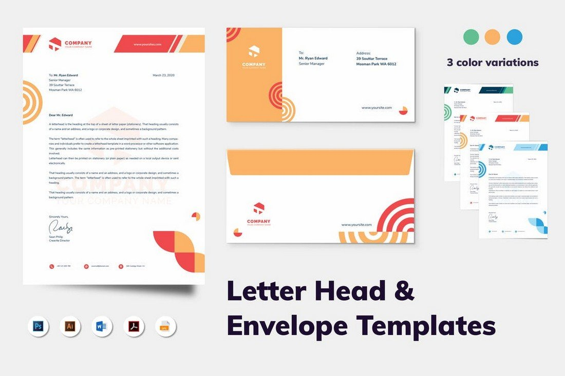 Creative Business Stationery Template Kit
