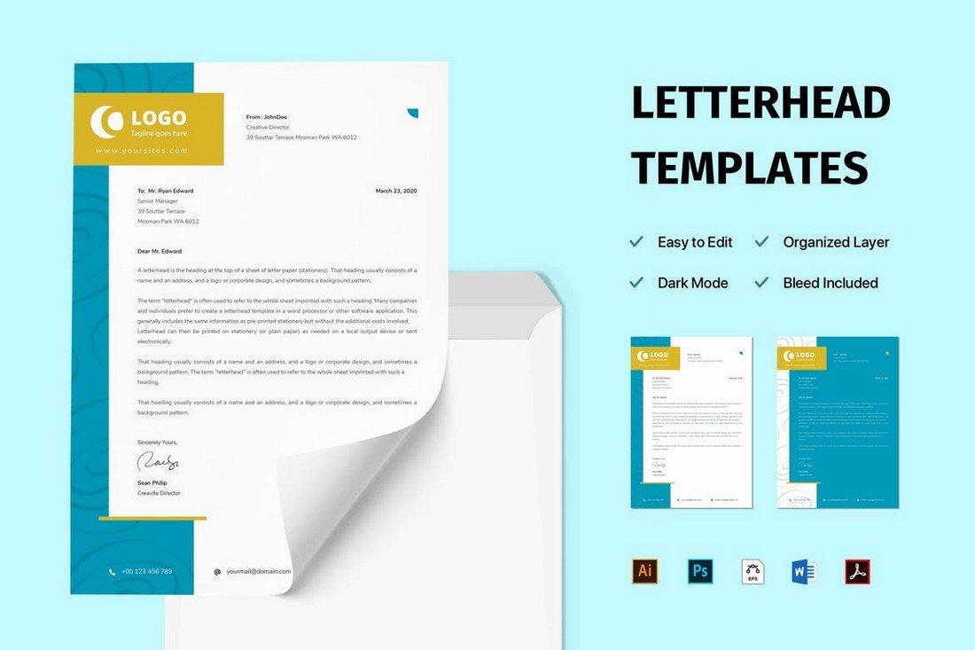 Creative Letterhead Stationery Templates