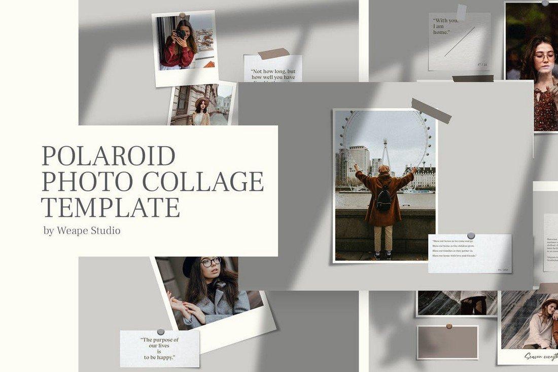 Creative Polaroid Photo Collage Template