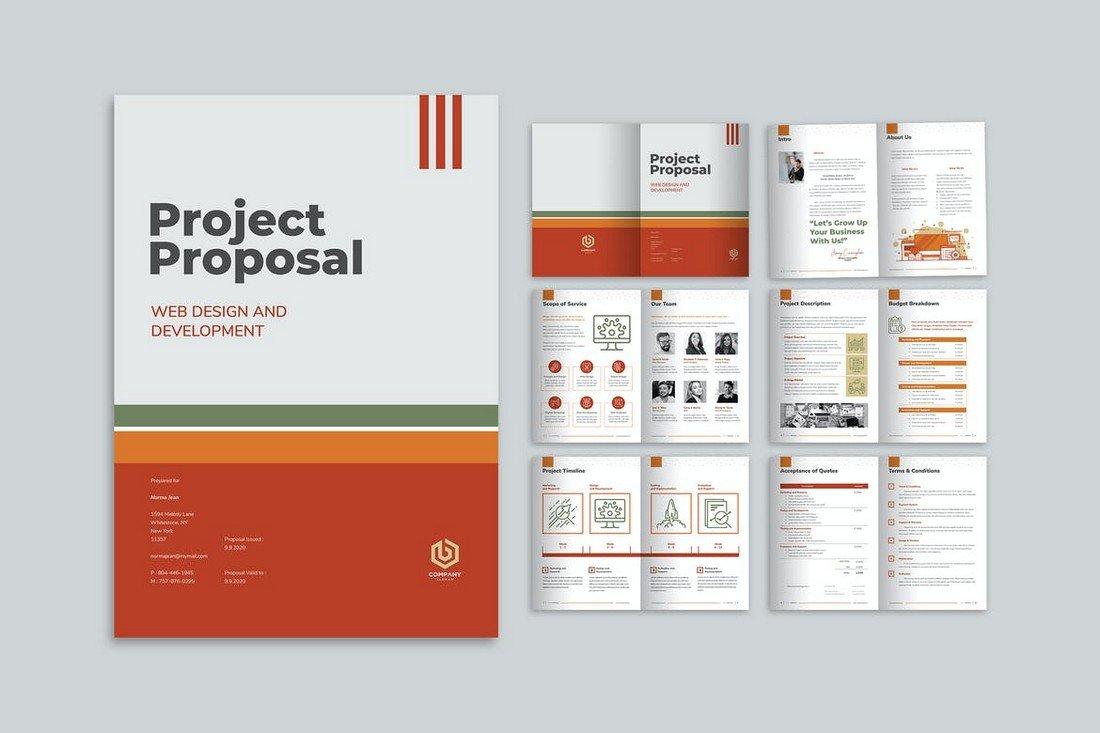 Creative Project Proposal Brochure Template