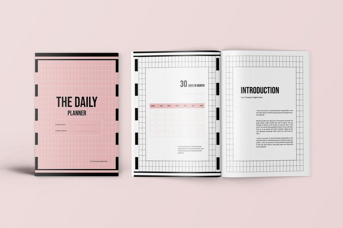 Daily Planner Creator Book Template