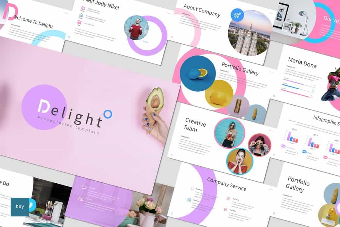 Delight - Colorful Keynote Template