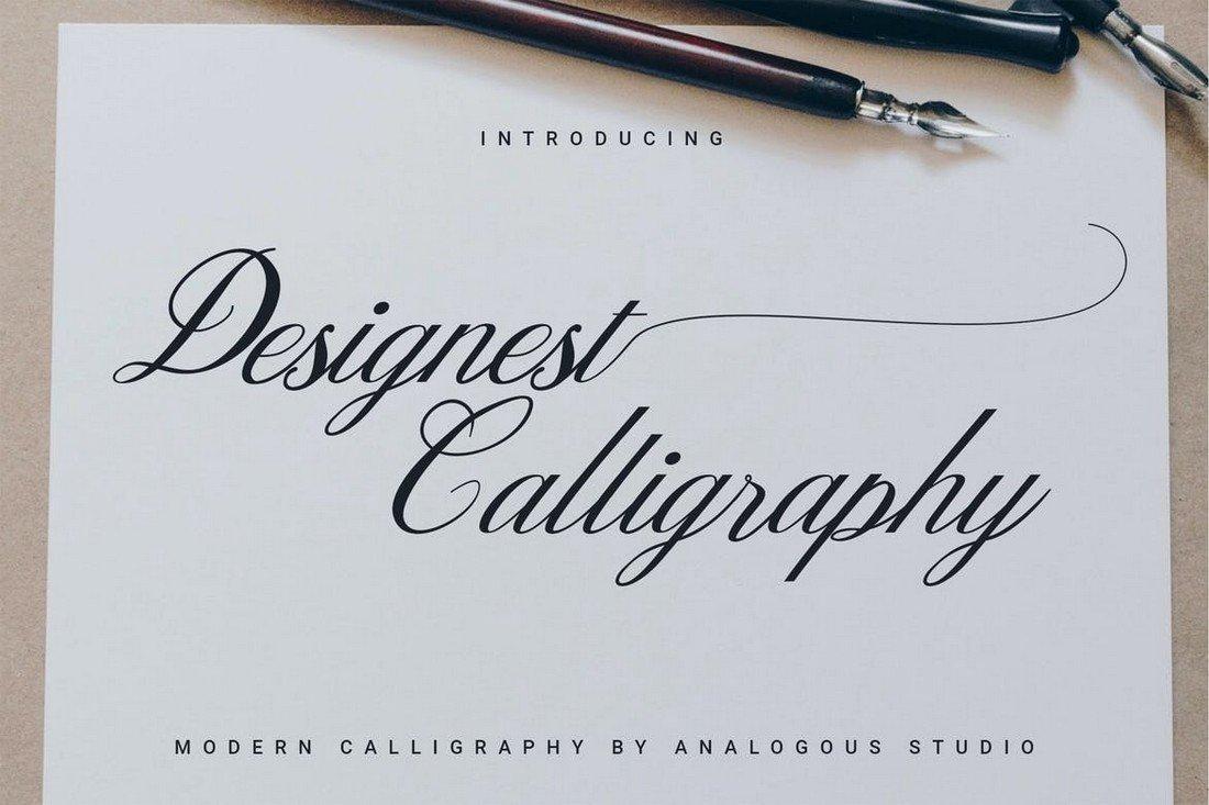 Designest Calligraphy Font for Procreate