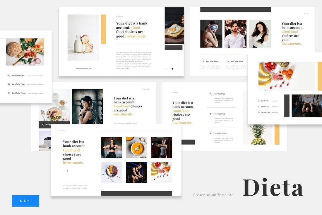 Dieta - Diet Plan Food Keynote Template