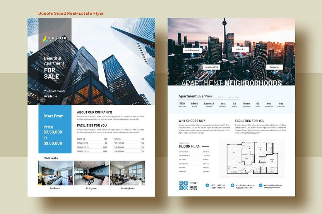 Double Side Apartment for Sale Flyer Template