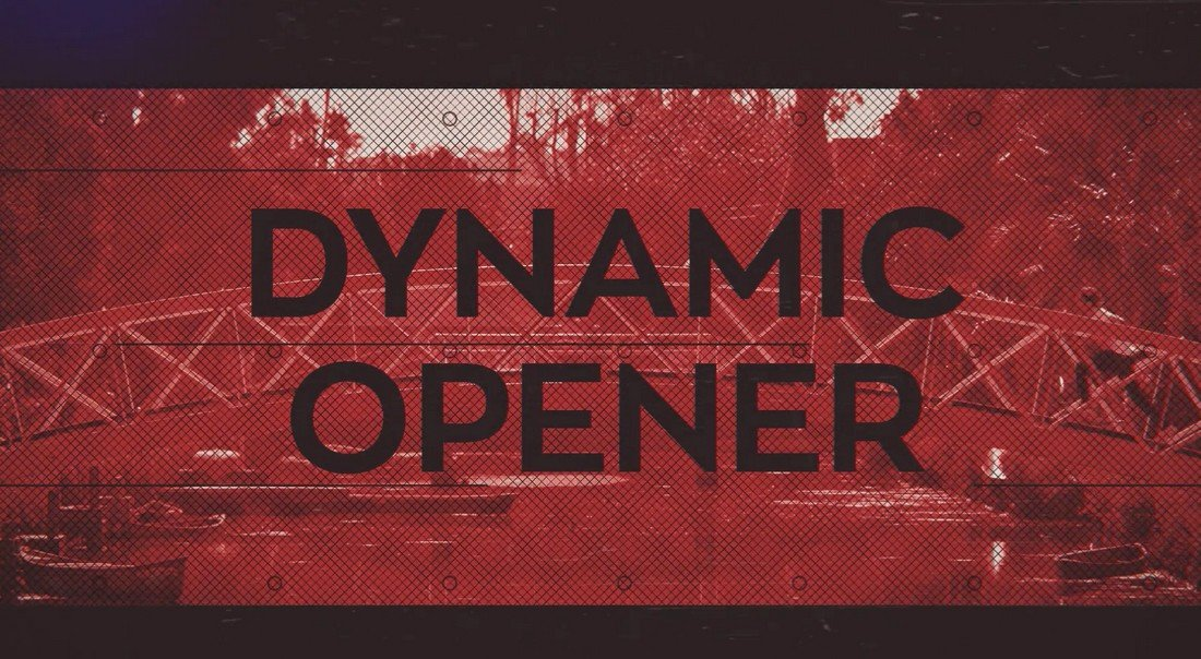 Dynamic Opener After Effects Intro Template