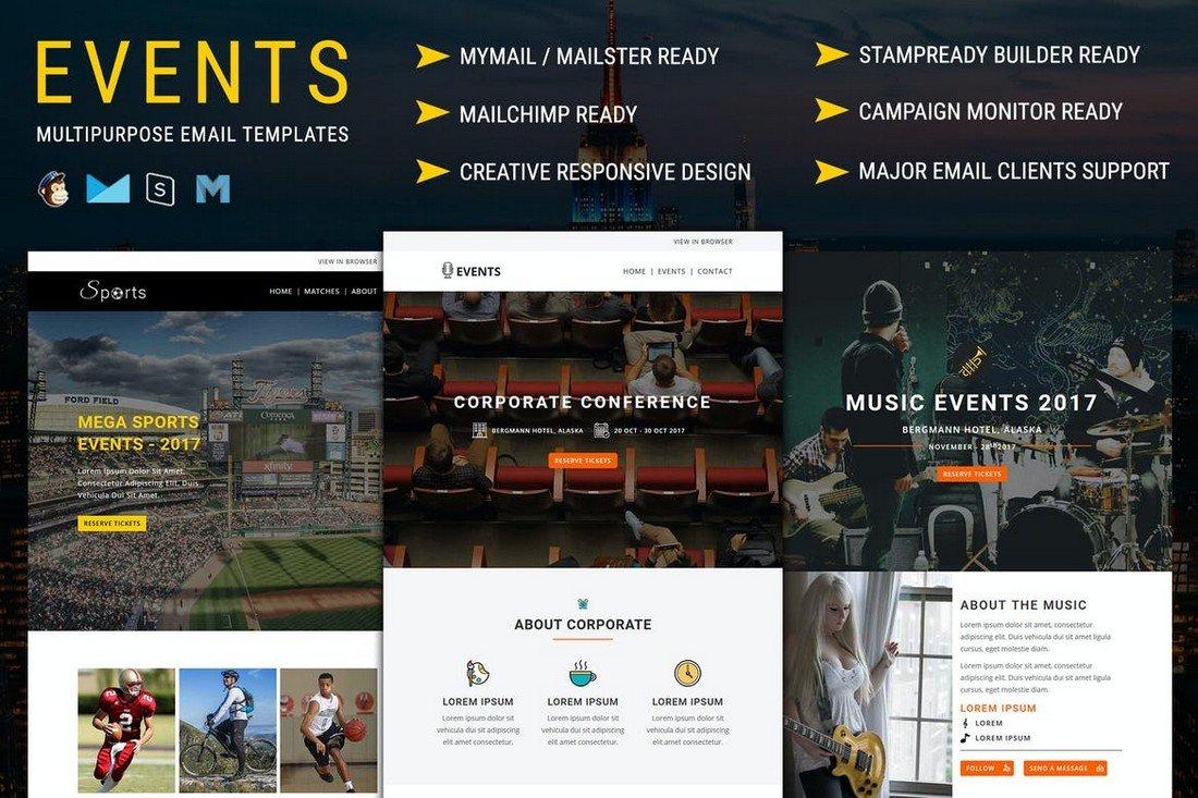 EVENTS - Multipurpose MailChimp Email Templates