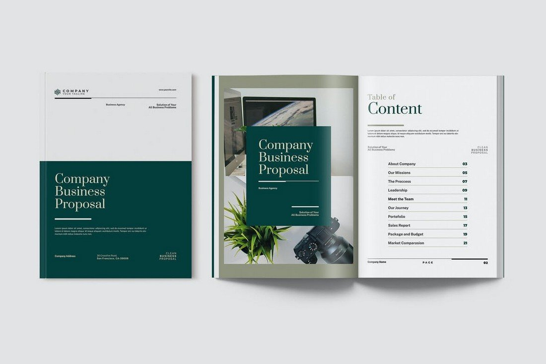 Elegant Business Proposal Document for Word
