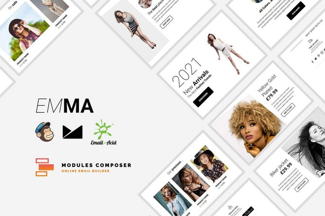 Emma - Modular Email Template for MailChimp