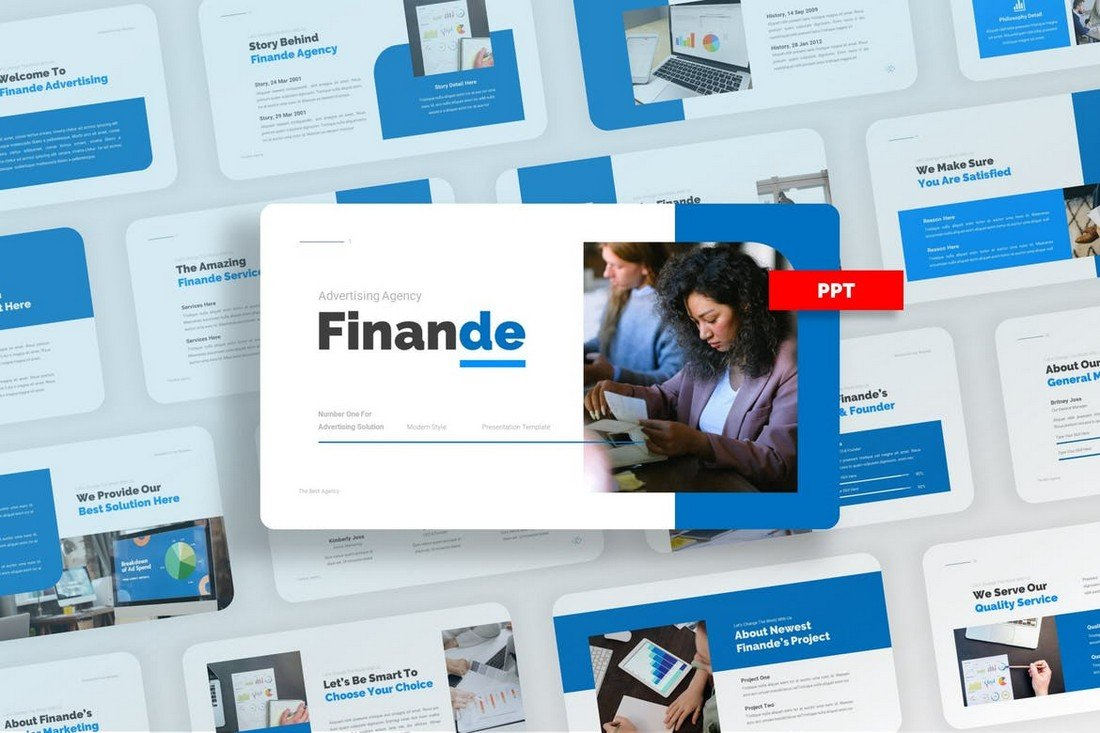 Finande - Minimal Agency PowerPoint Template