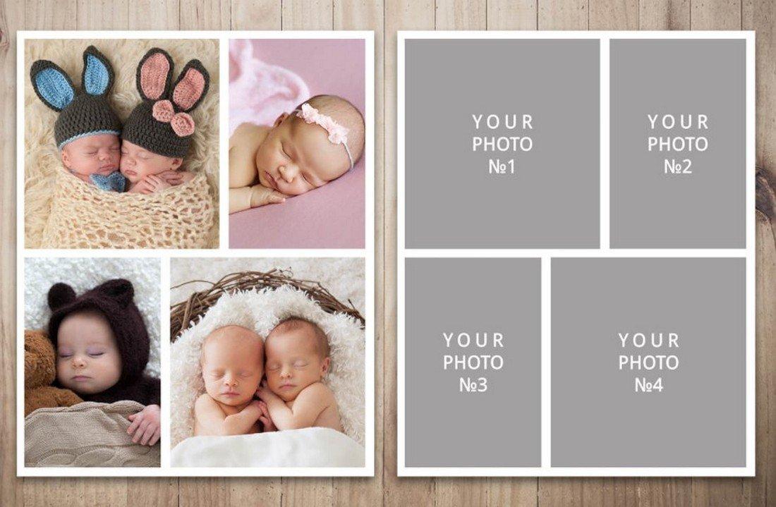 Four Season - Free Photo Collage Template