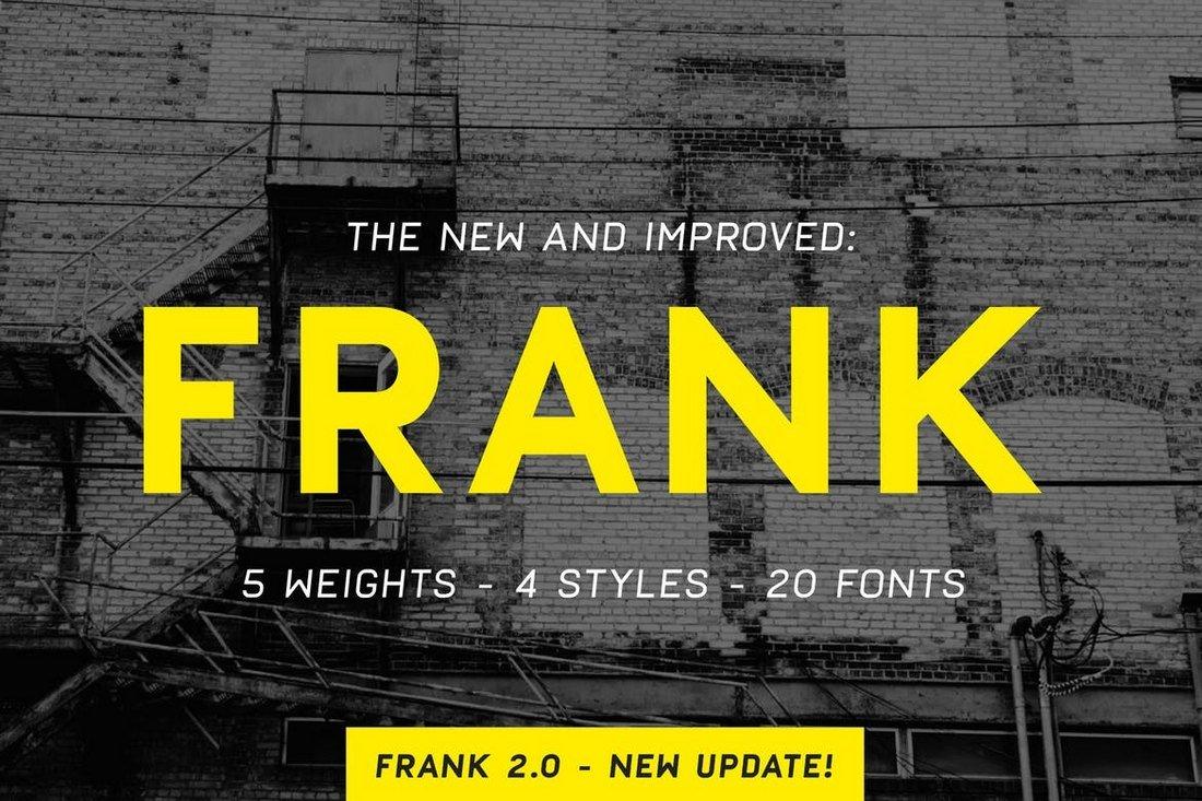 Frank - Modern Font Family