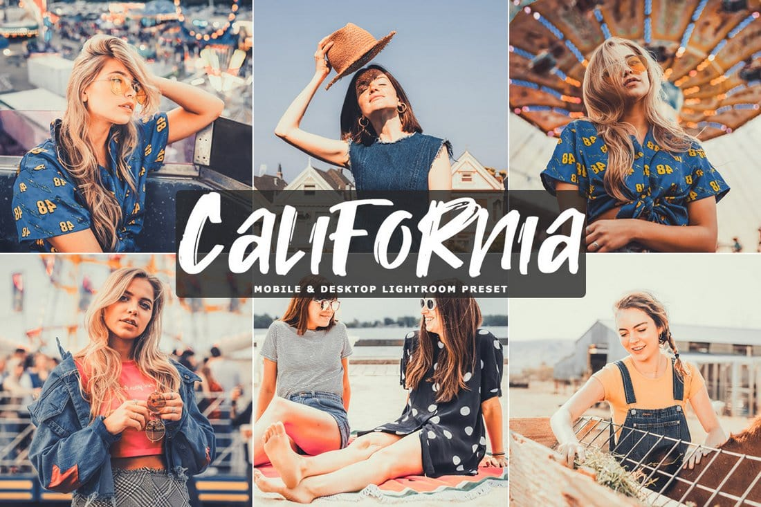 Free California Lightroom & Photoshop Actions