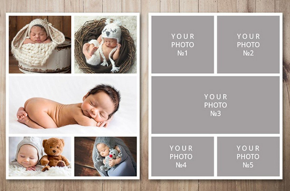 Free Classic Photo Collage Template