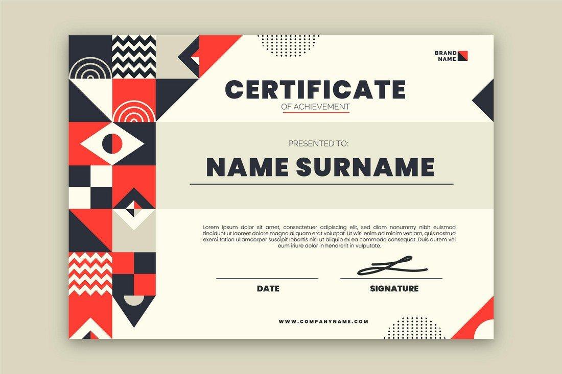 Free Creative Certificate Template