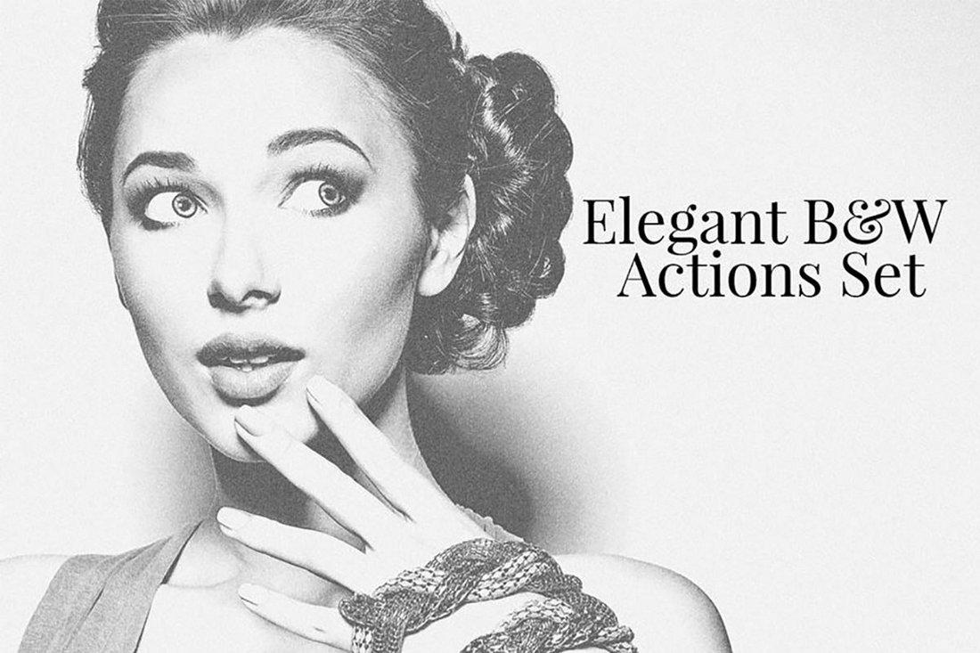 Free Elegant BW Photoshop Actions Set