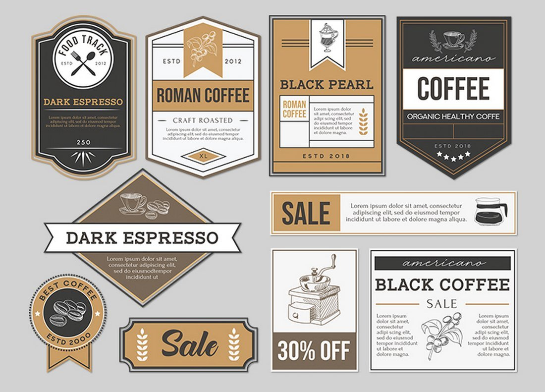 Free Food & Drink Label Templates