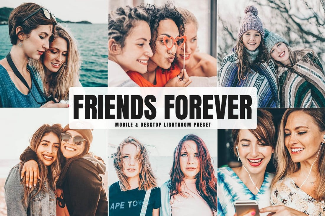 Free Friends Forever Photoshop Actions