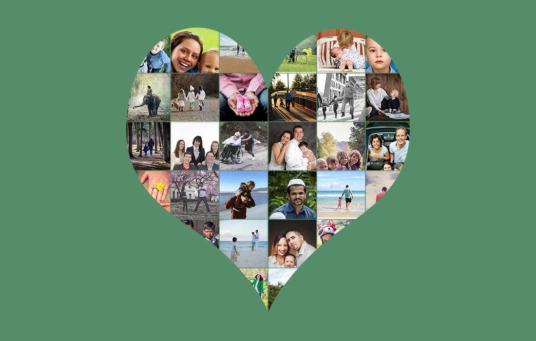 Free Heart Photo Collage Template