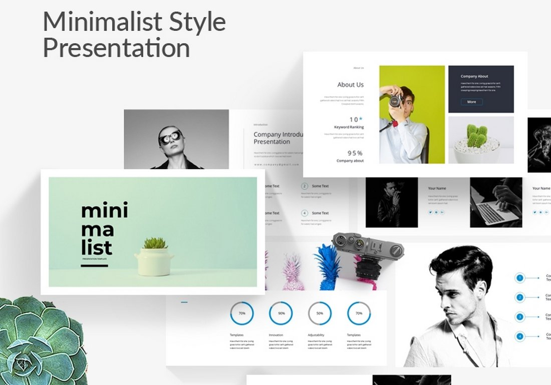Free Minimalist Style Powerpoint Template