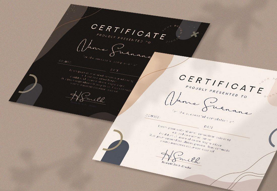 Free Modern Certificate Template