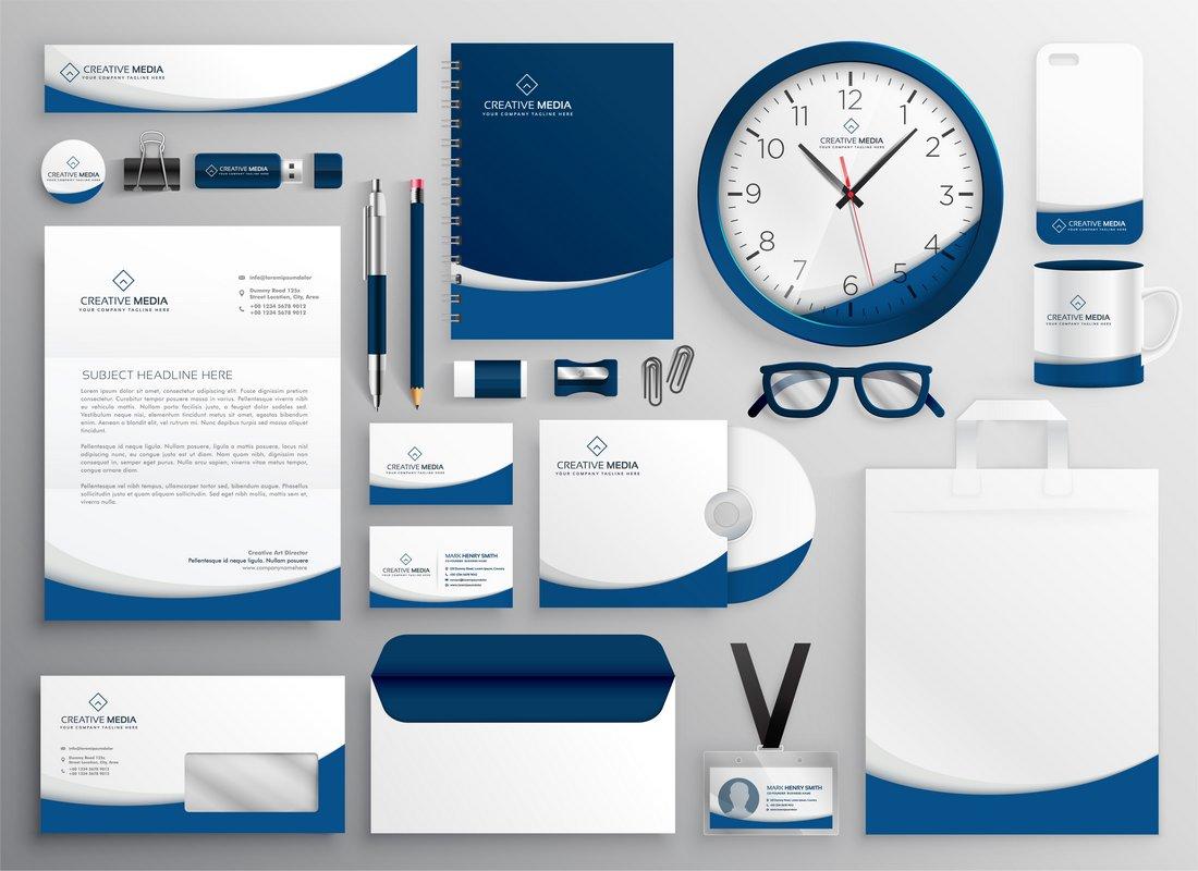Free Modern Stationery Templates Kit