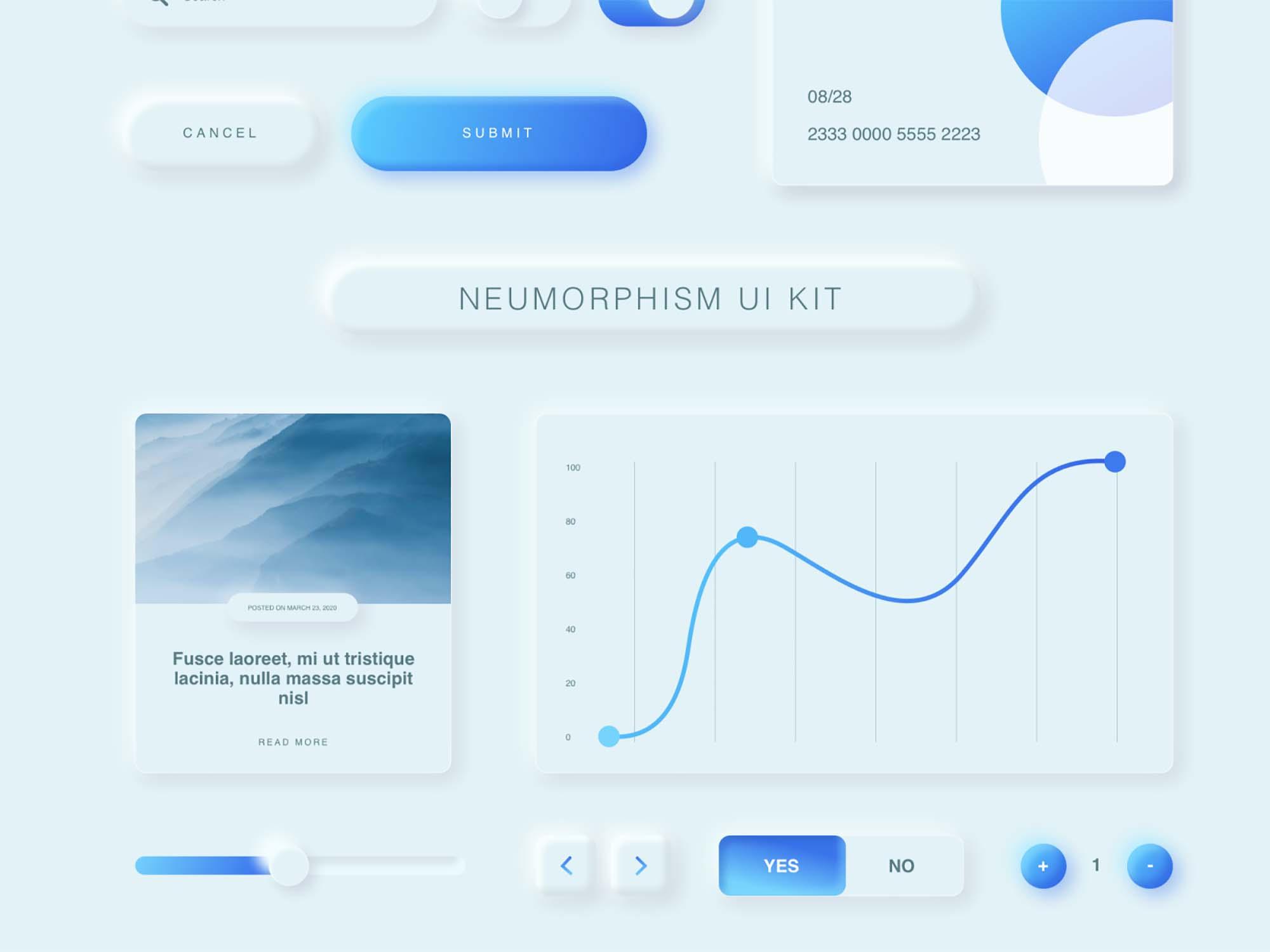 Free Neumorphism UI Kit
