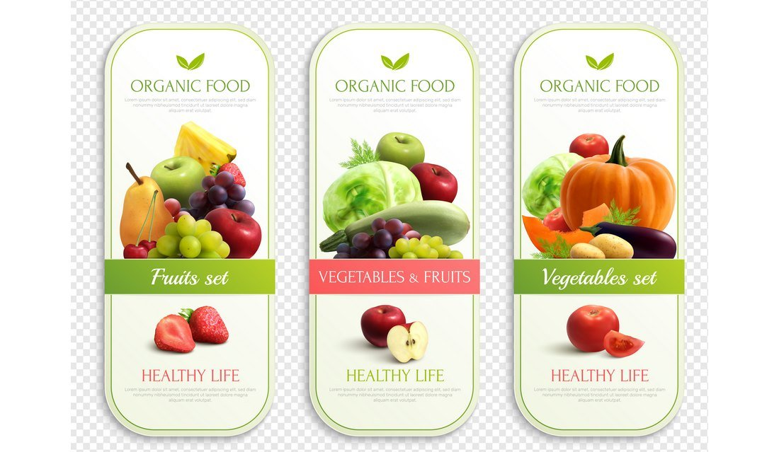 Free Organic Food Label Design Template