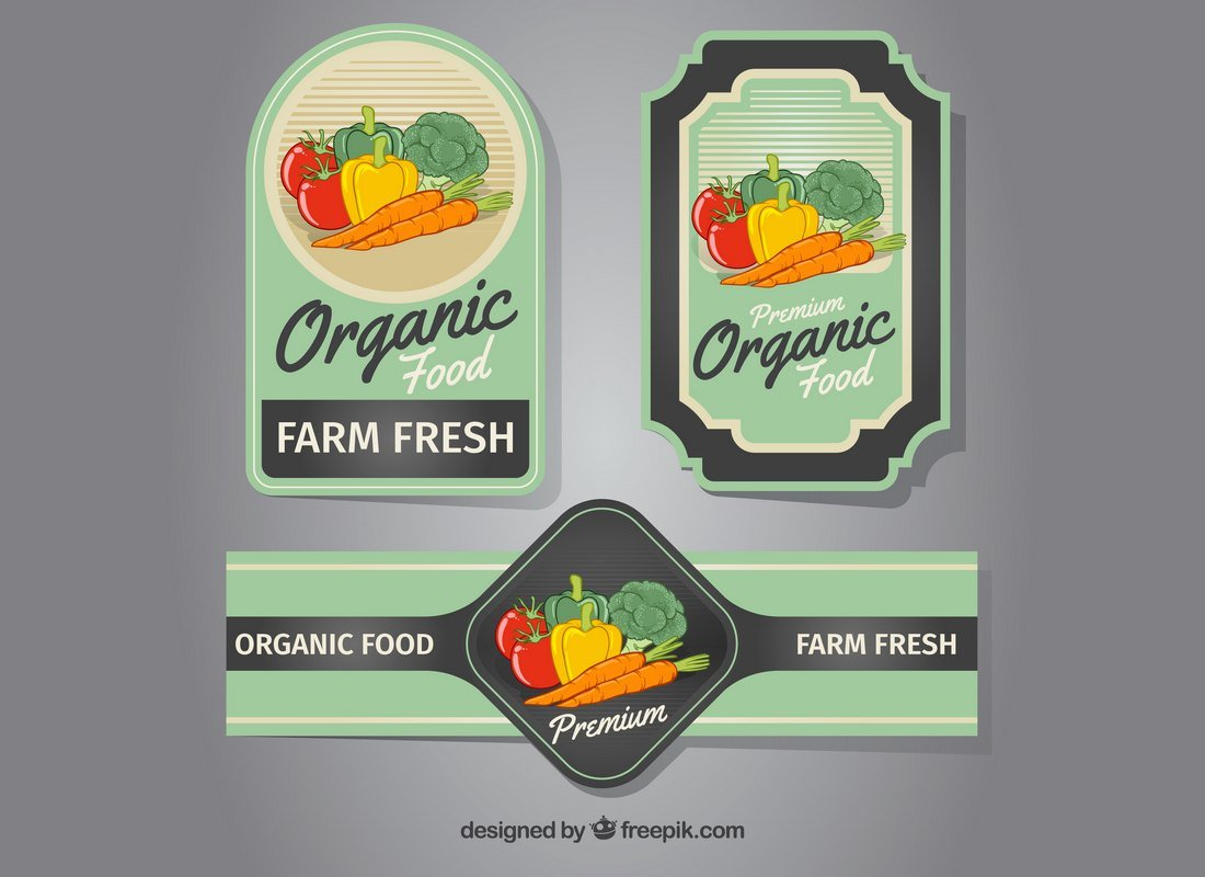 Free Organic Food Product Label Templates