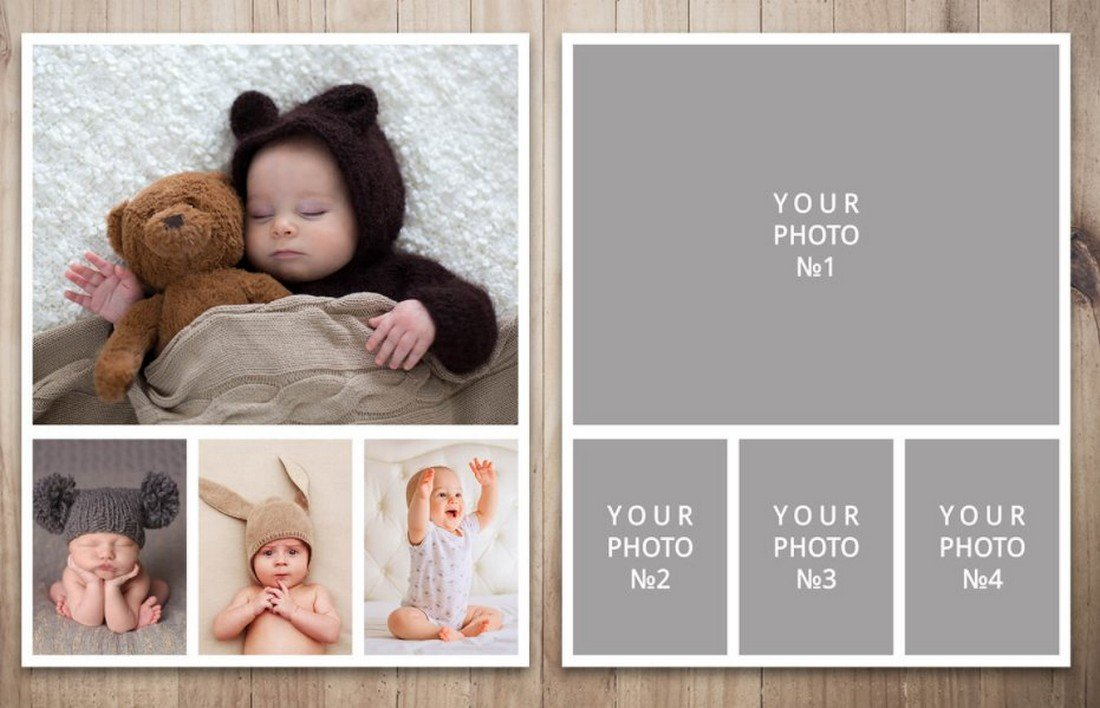 Free Simple Photo Collage Template