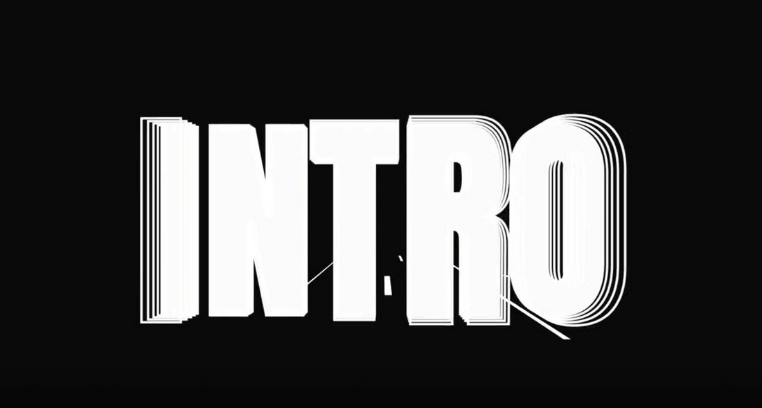 Free Split Text Intro After Effects Template