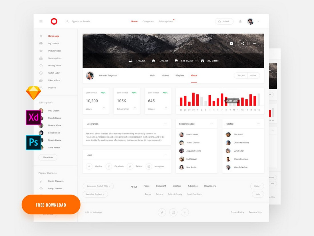 Free Stat Dashboard Sketch Template