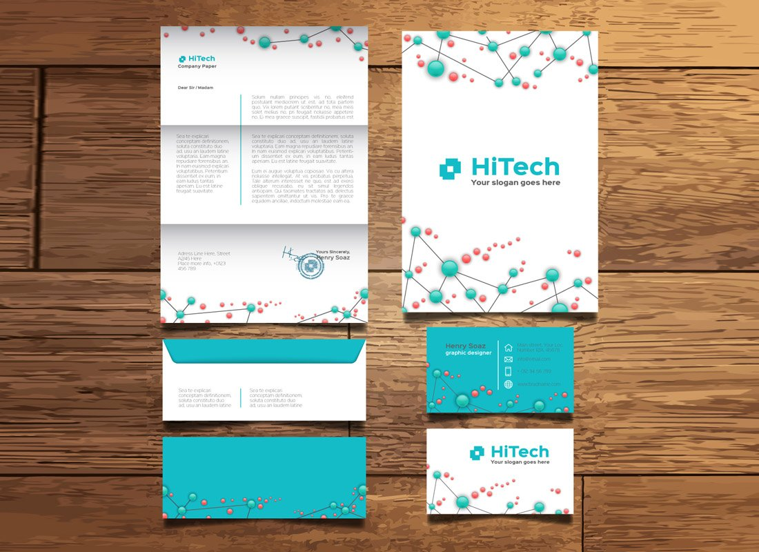 Free Tech & Startup Stationery Templates