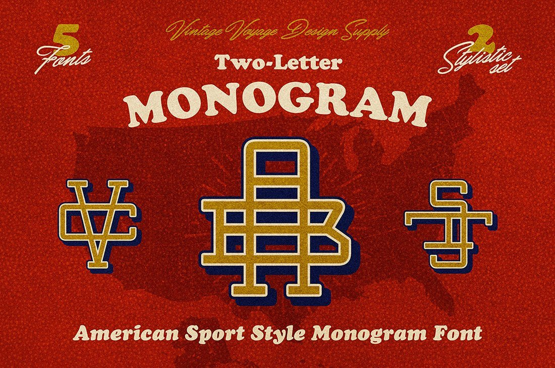 Free Vintage Monogram Font for Procreate