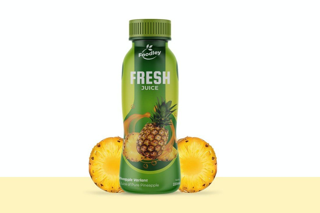 Fresh Juice Bottle Label Template