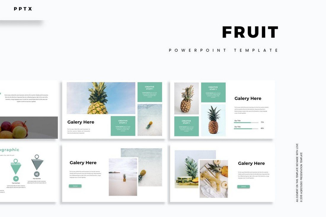 Fruit - Clean & Minimal Powerpoint Template
