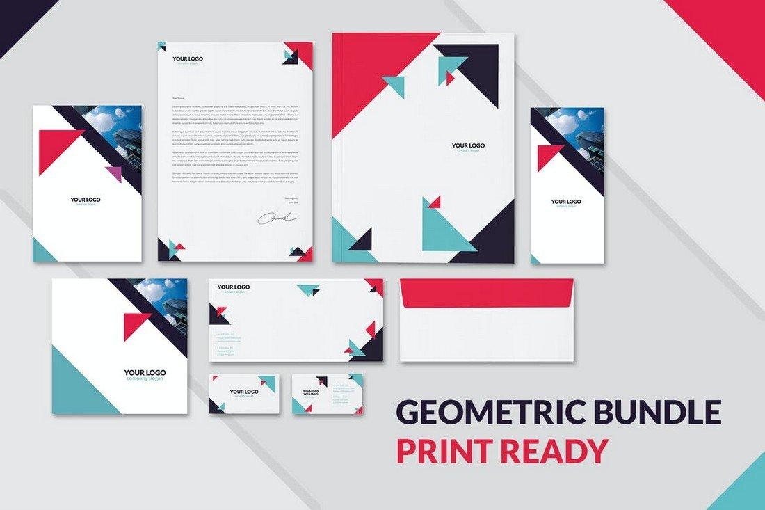 Geometric Brochure & Stationery Templates