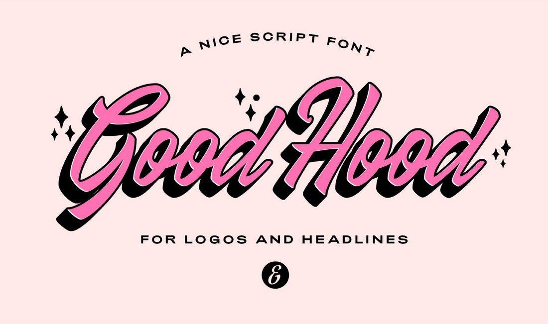 GoodHood - Free Procreate Font