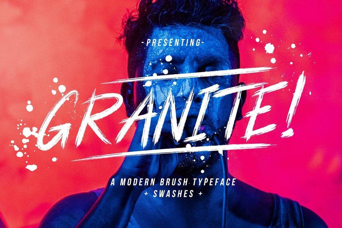 Granite - Modern Brush Font
