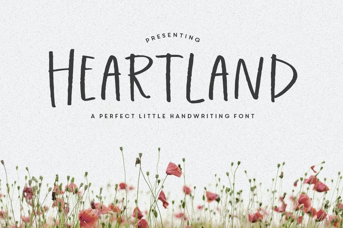 Heartland - Minimal Handwriting Procreate Font