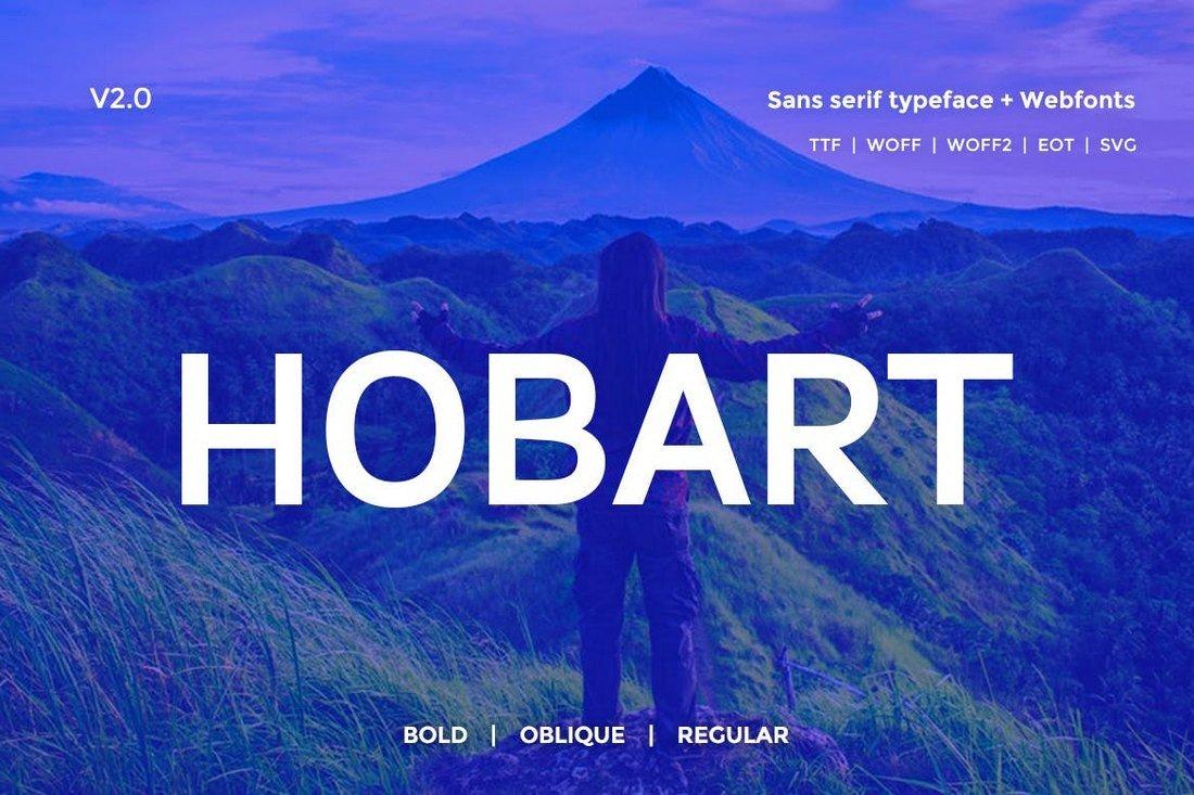 Hobart Minimal Typeface