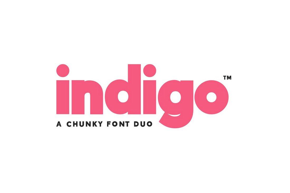 Indigo - Chunky Font Duo