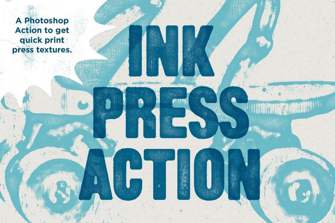 Ink Press Type - Vintage Photoshop Action