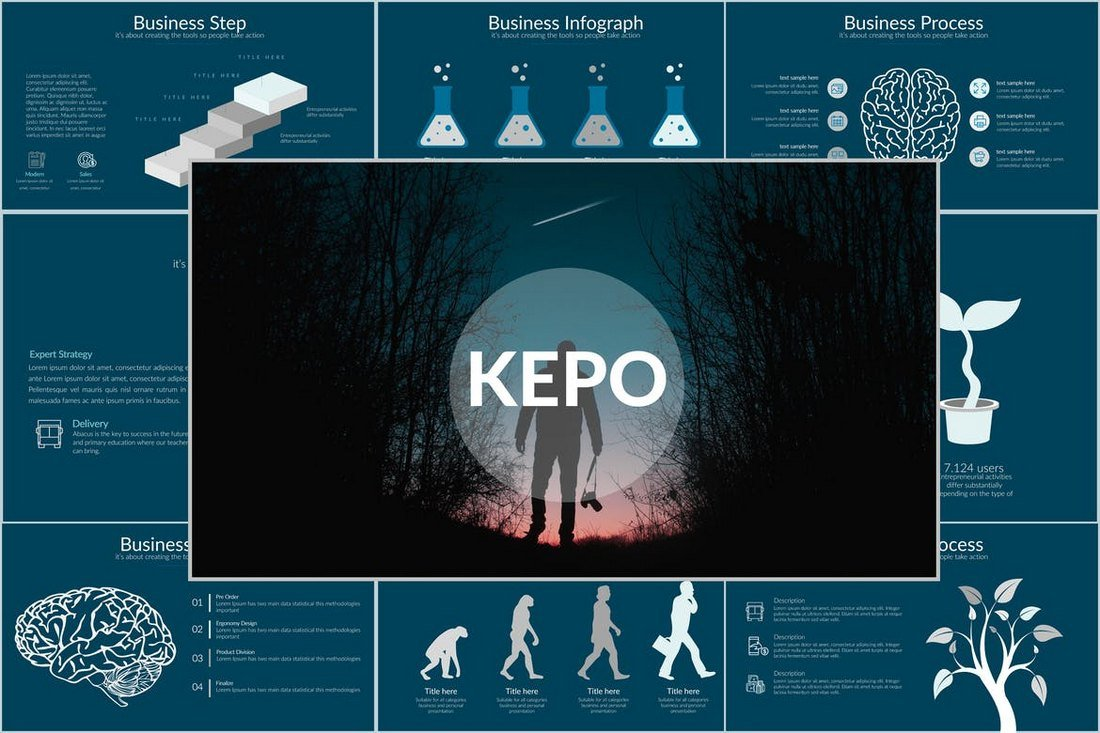 KEPO - Minimal Cool Powerpoint Template