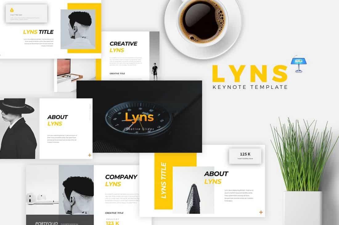 LYNS - Creative Keynote Template