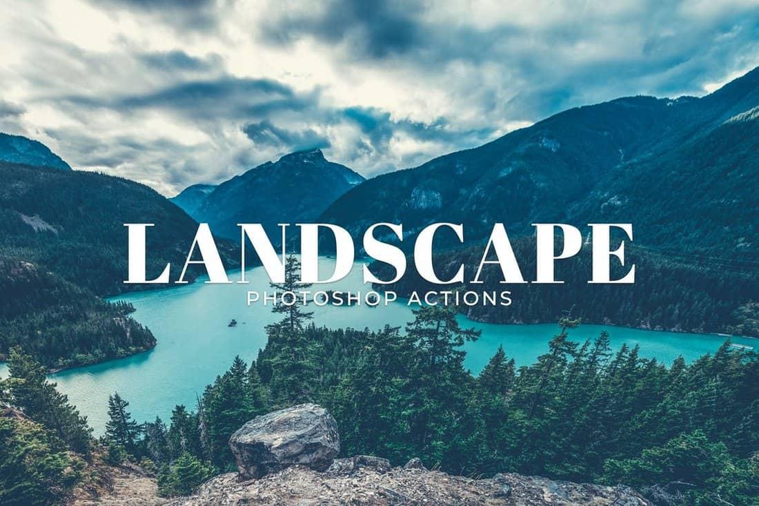Landscape Instagram Photoshop Actions