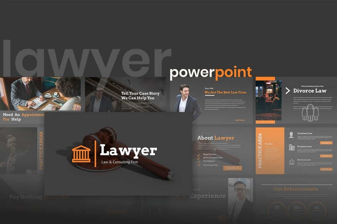 Lawyero - Law & Firm Powerpoint Presentation