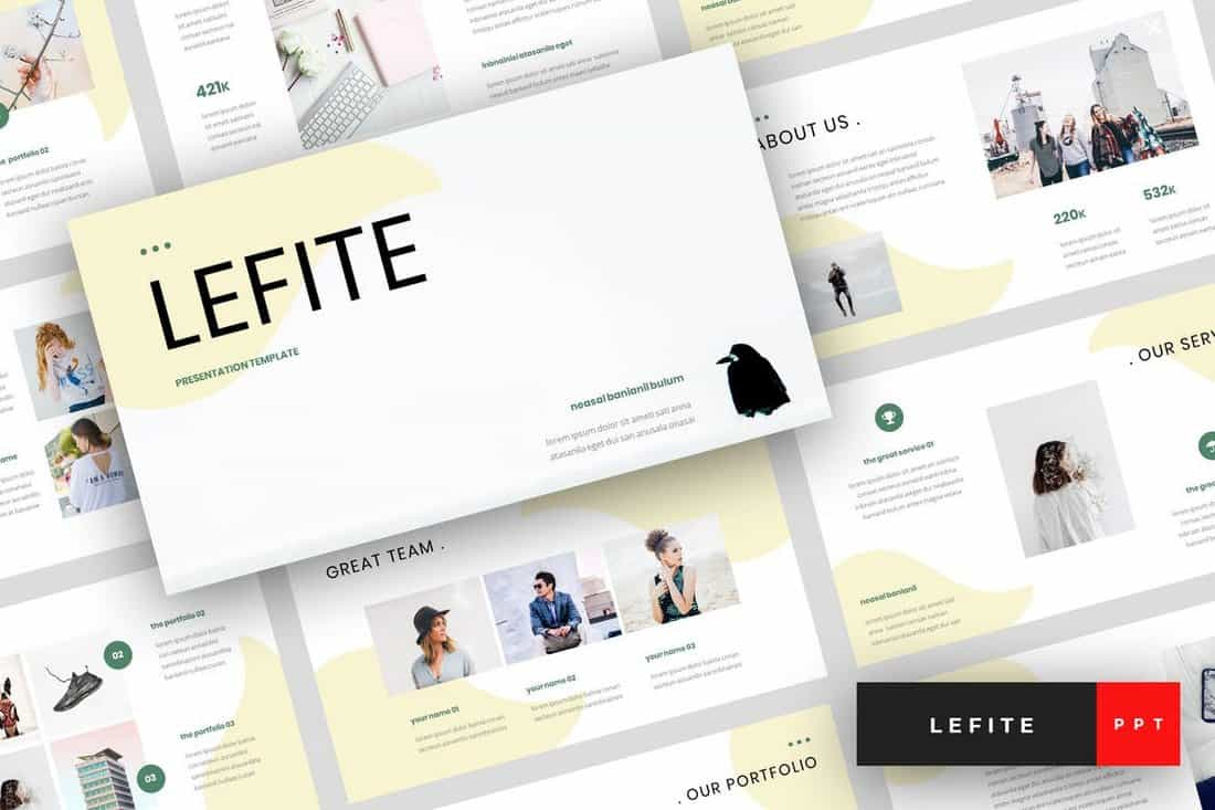 Lefite - Magazine PowerPoint Template