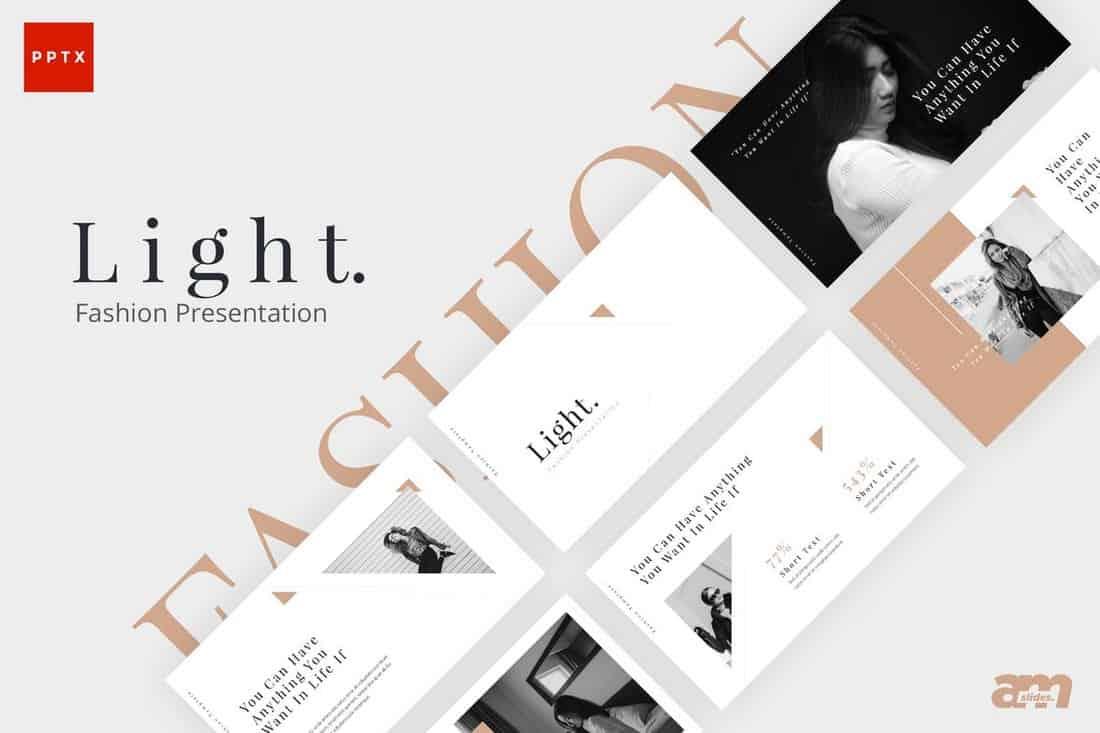 Light Fashion Powerpoint Presentation Template