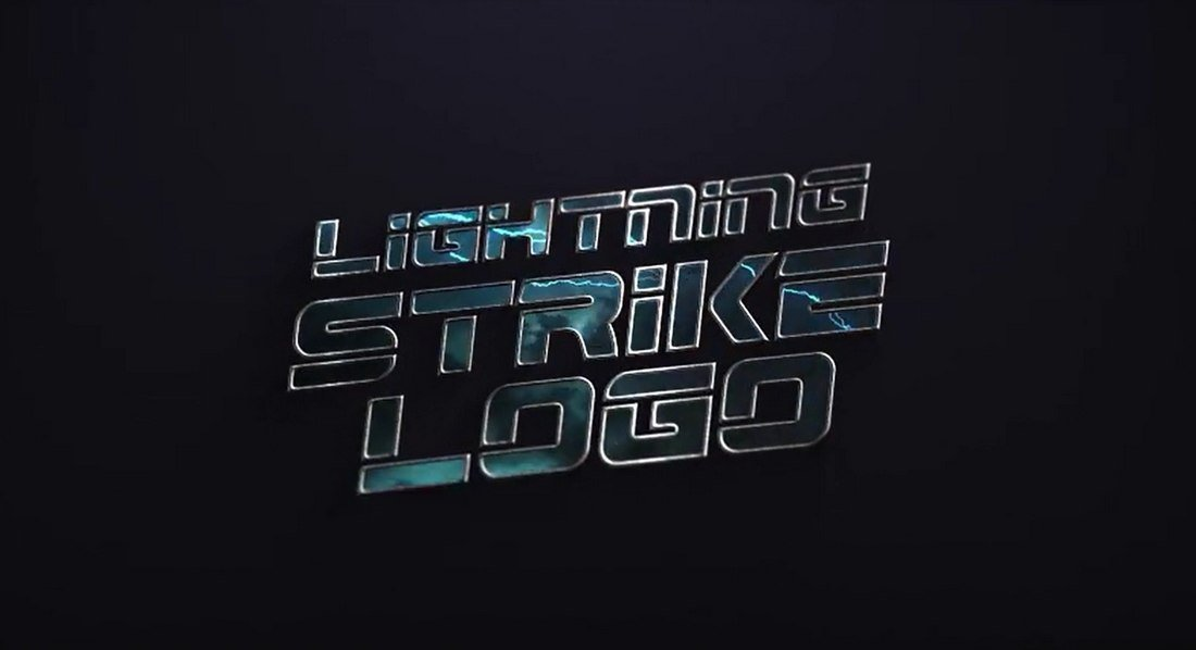 Lightning Strike After Effects Logo Reveal Template